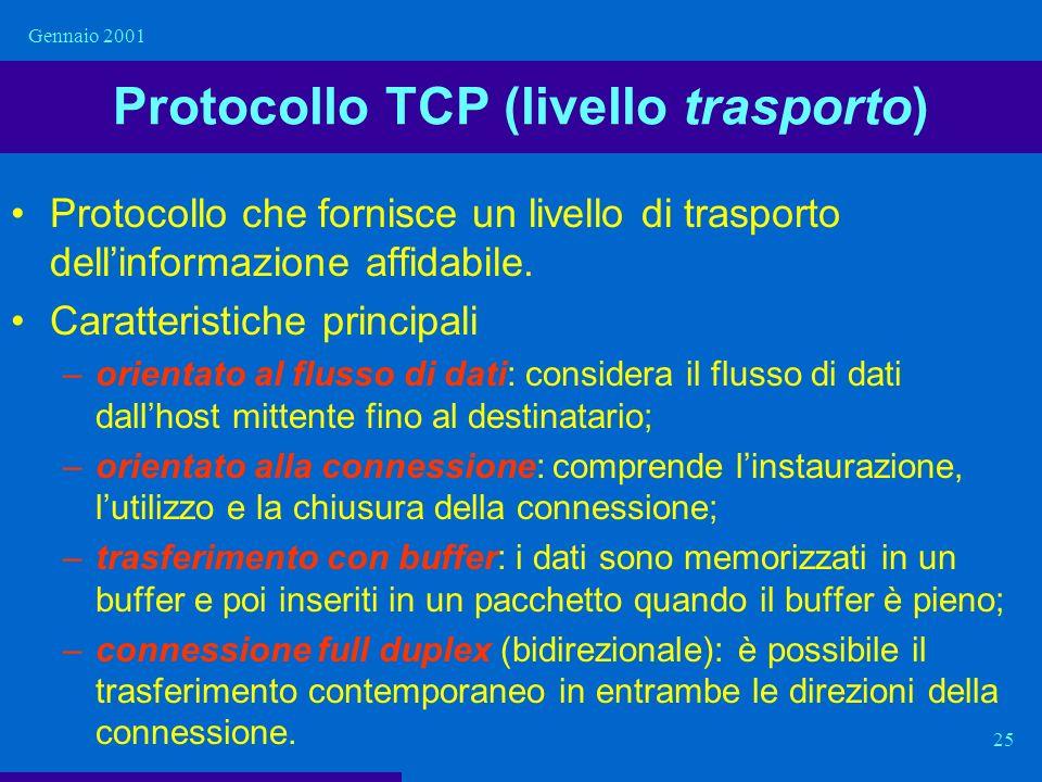 Protocollo TCP (livello trasporto)