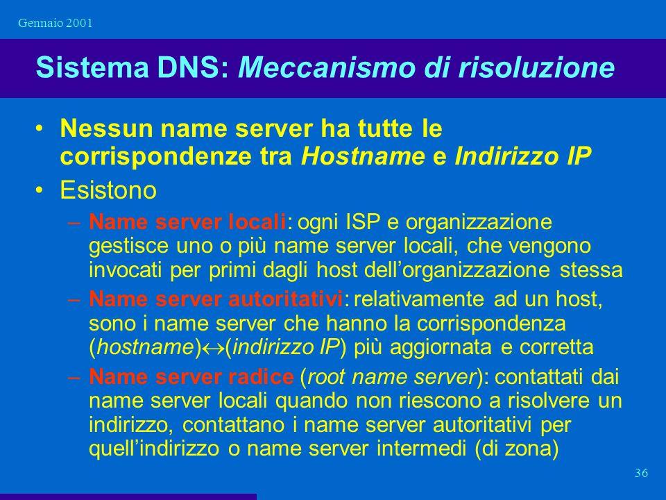Sistema DNS: Meccanismo di risoluzione