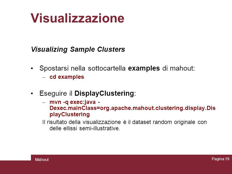 Visualizzazione Visualizing Sample Clusters