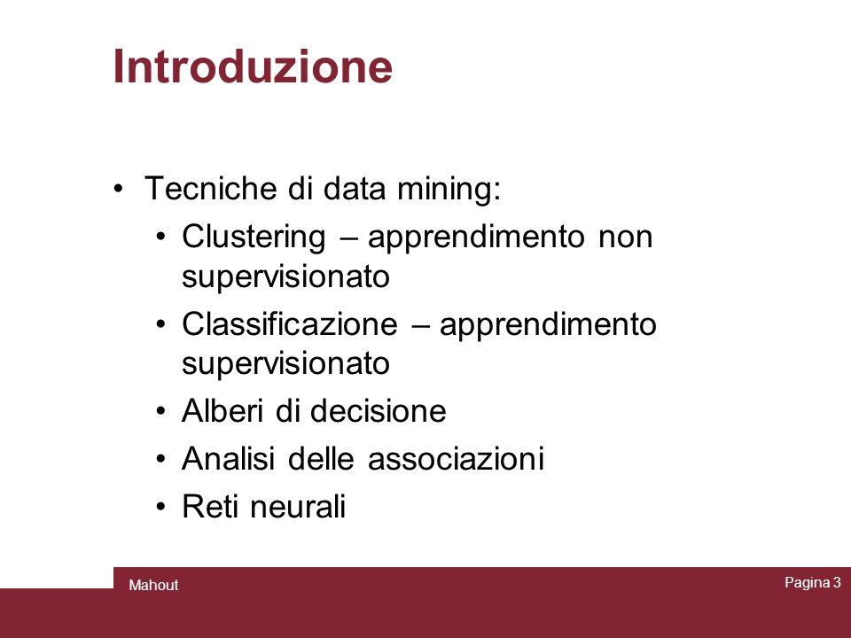 Introduzione Tecniche di data mining: