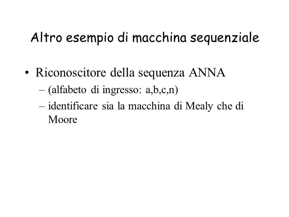 Altro esempio di macchina sequenziale