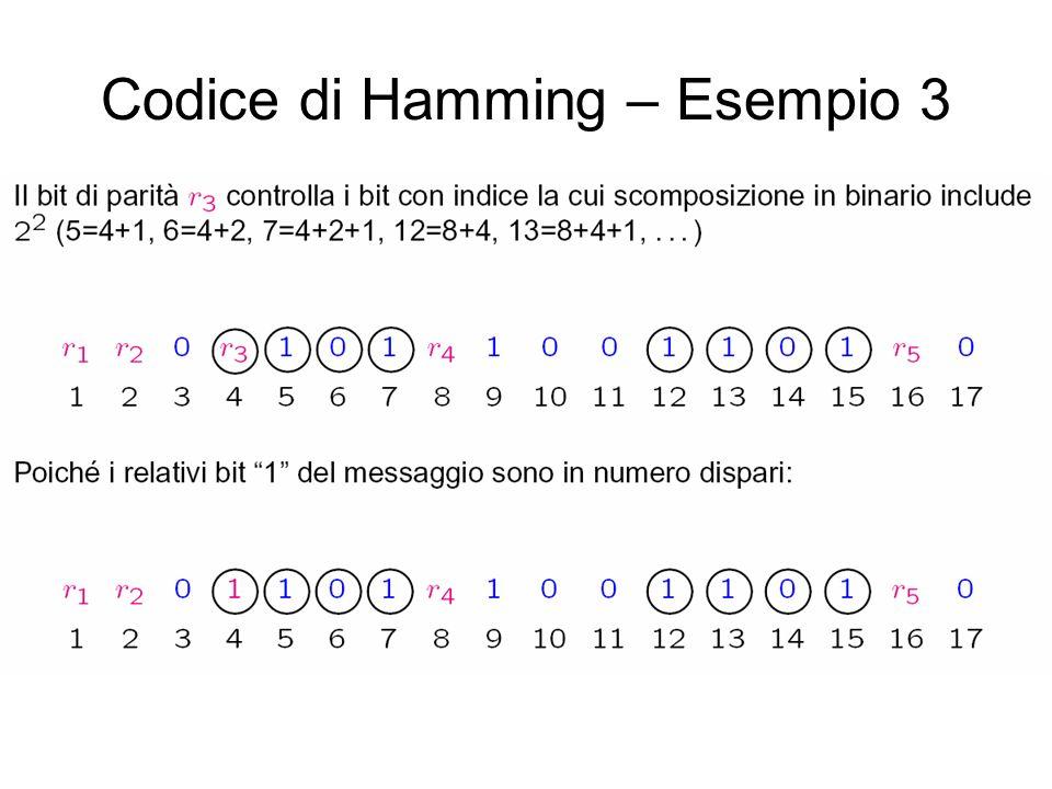 Codice di Hamming – Esempio 3