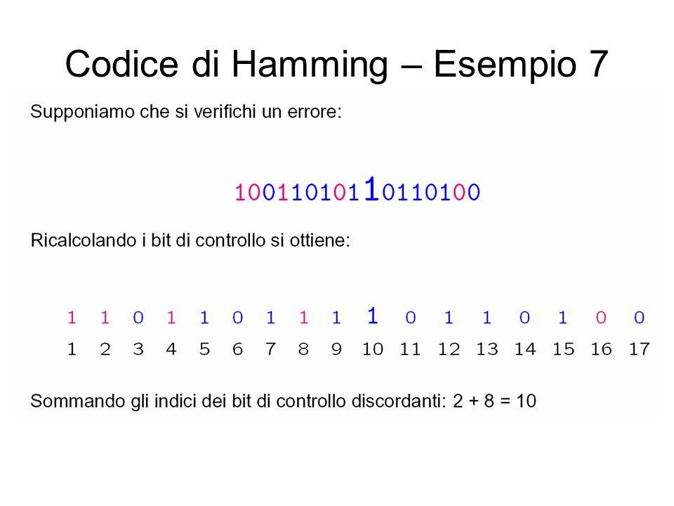 Codice di Hamming – Esempio 7