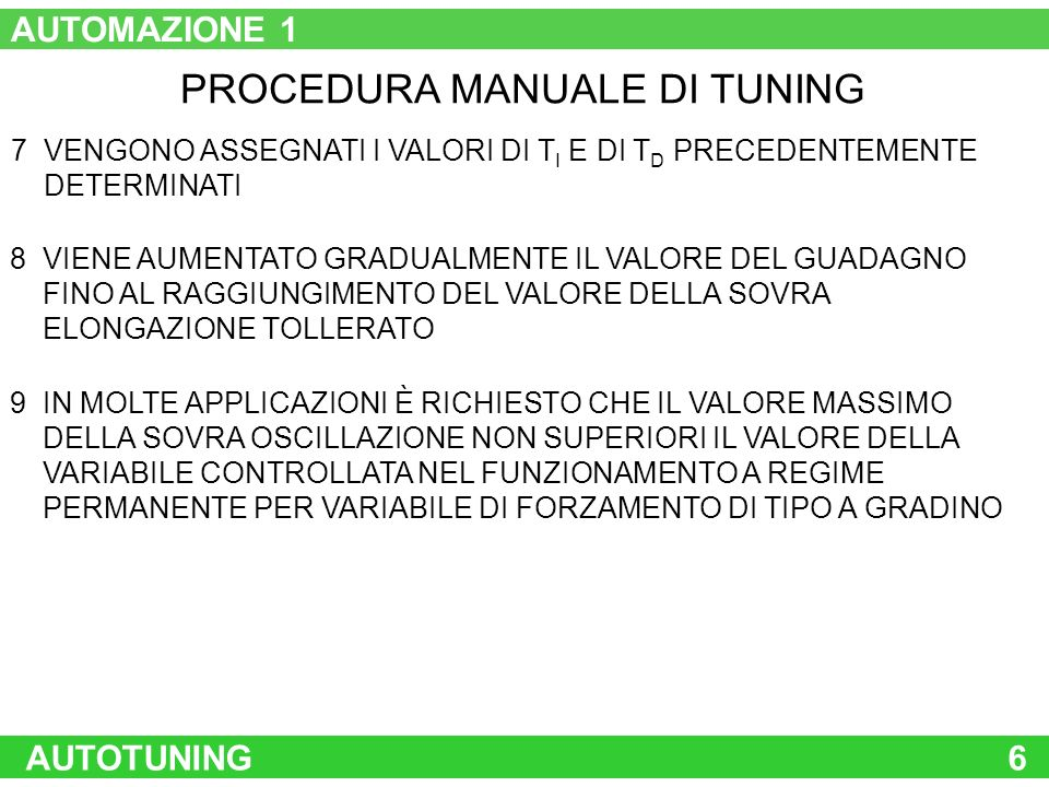 PROCEDURA MANUALE DI TUNING