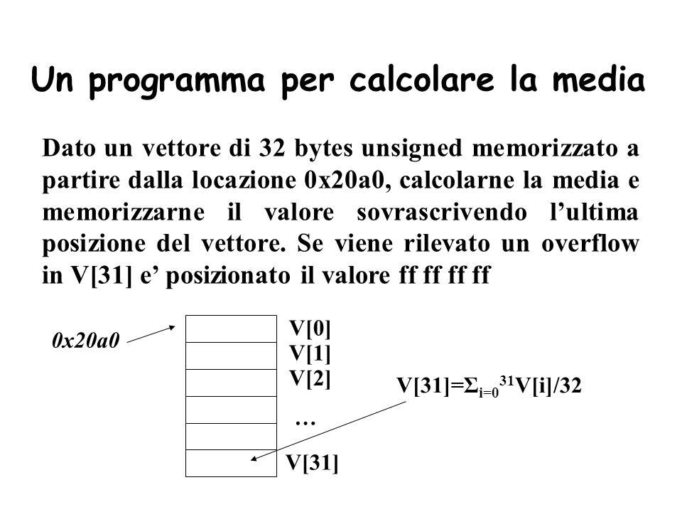 Un programma per calcolare la media