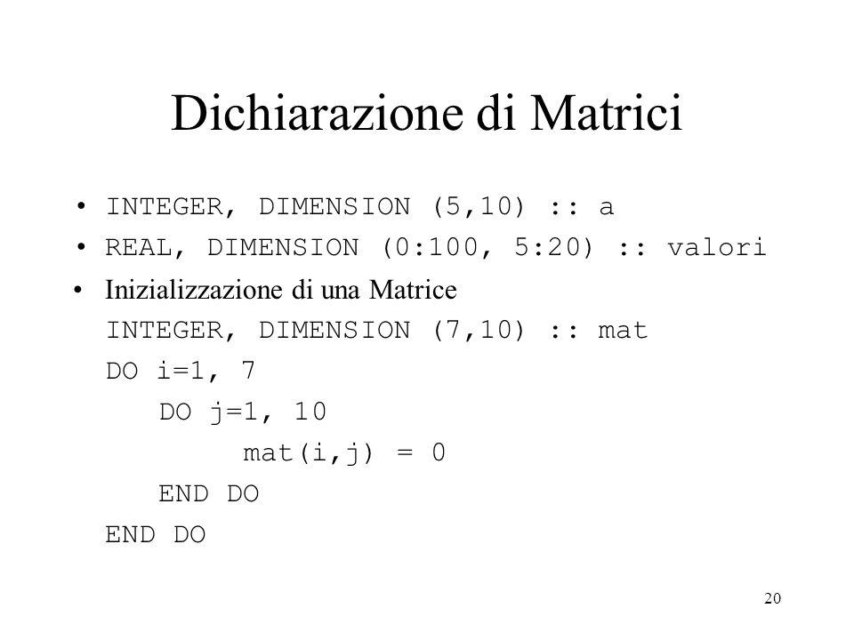 Dichiarazione di Matrici