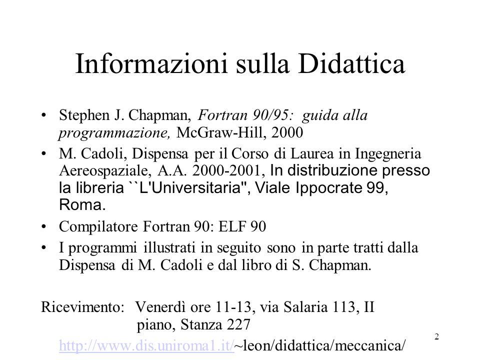 Informazioni sulla Didattica