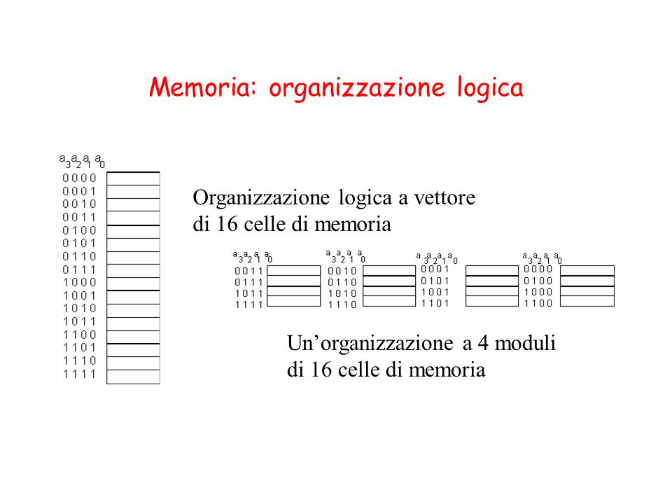 Memoria: organizzazione logica