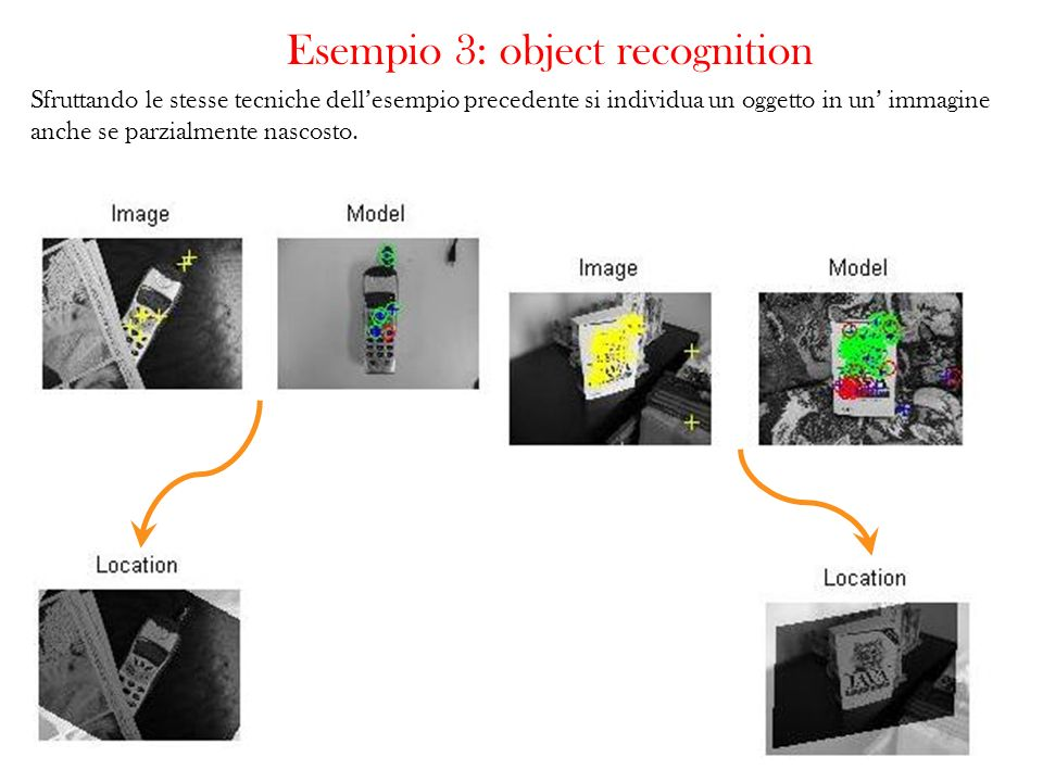 Esempio 3: object recognition