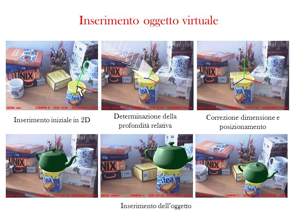 Inserimento oggetto virtuale