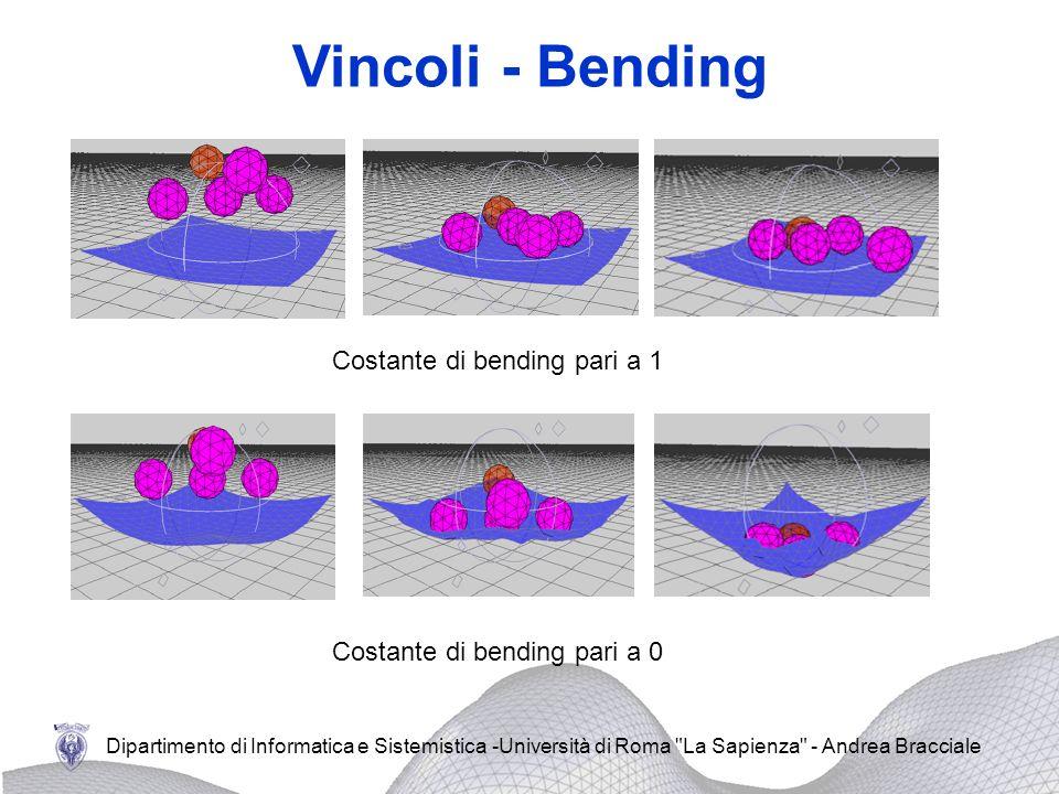Vincoli - Bending Costante di bending pari a 1