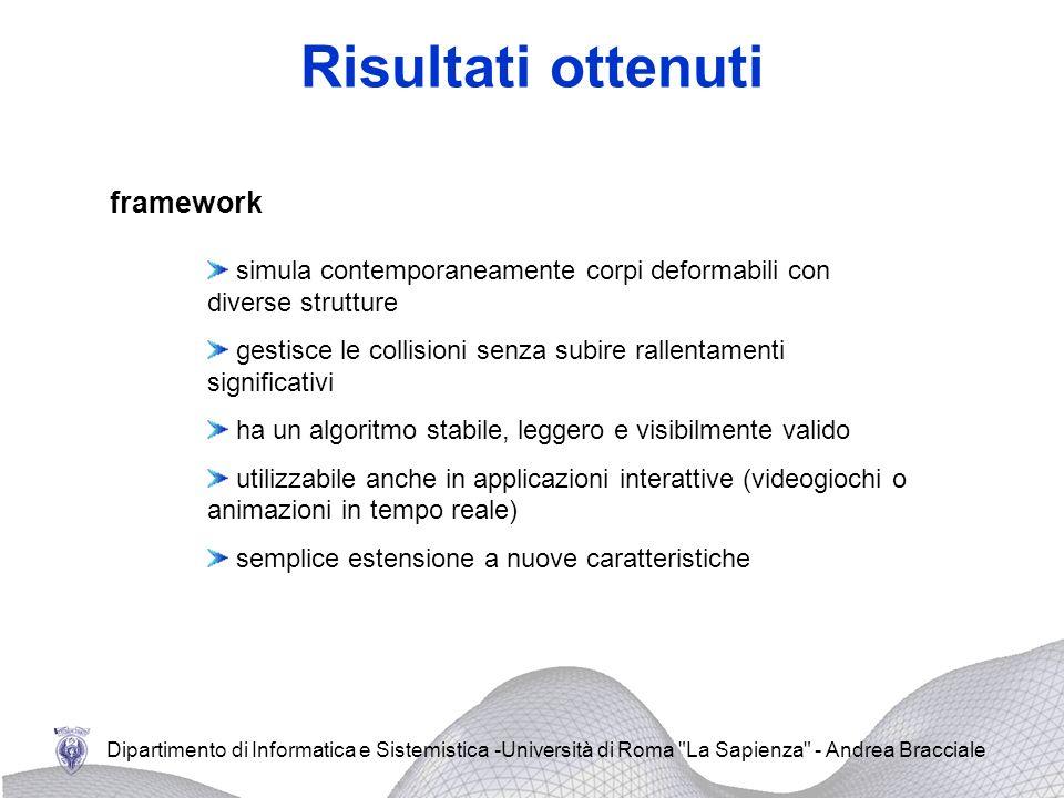 Risultati ottenuti framework