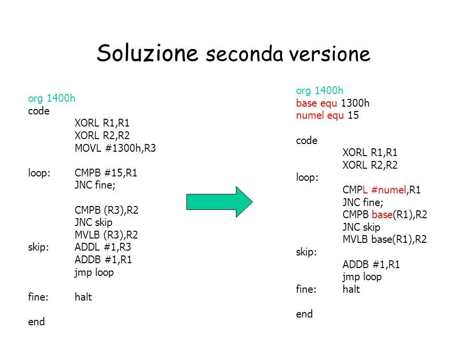 Soluzione seconda versione