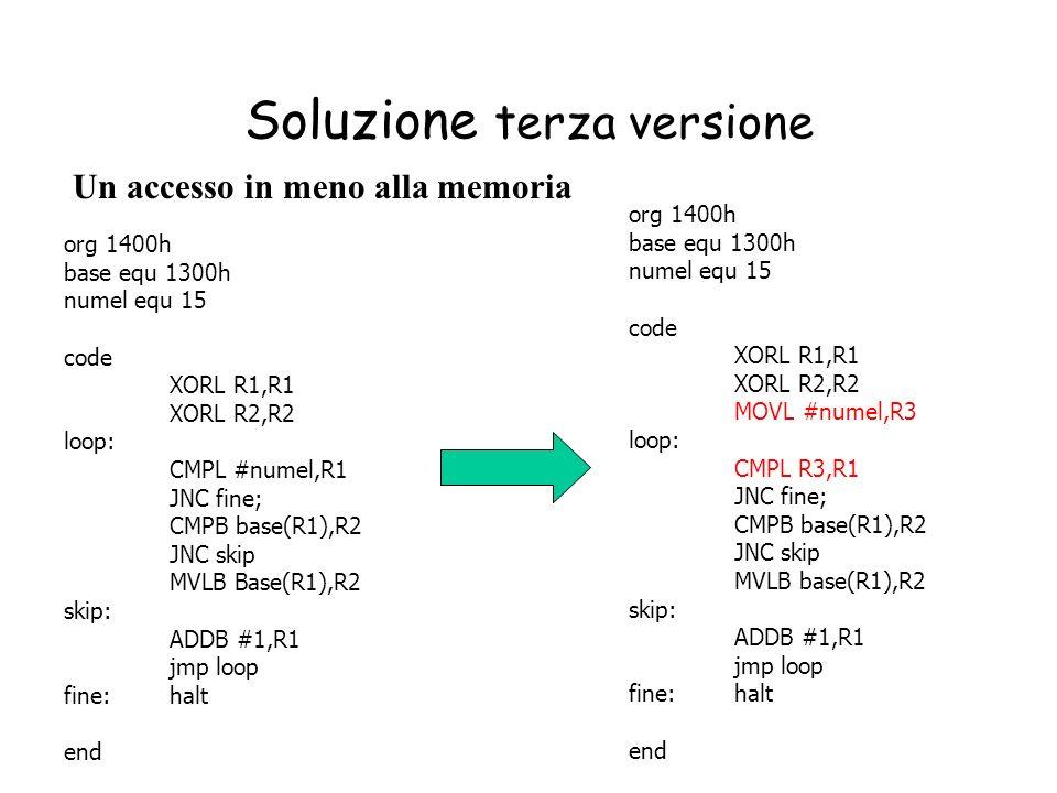 Soluzione terza versione