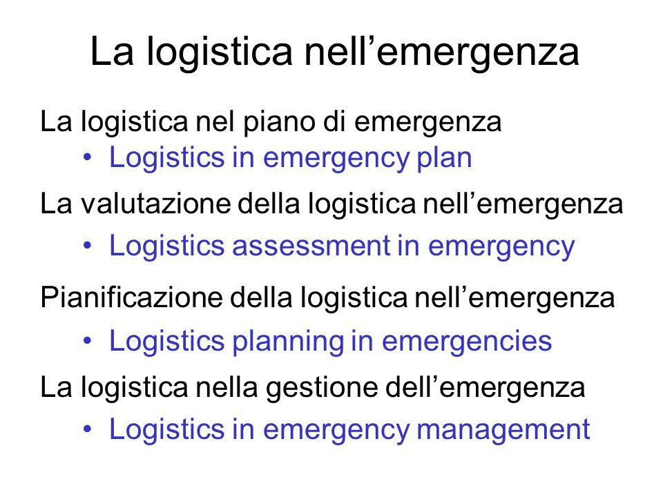 La logistica nell'emergenza