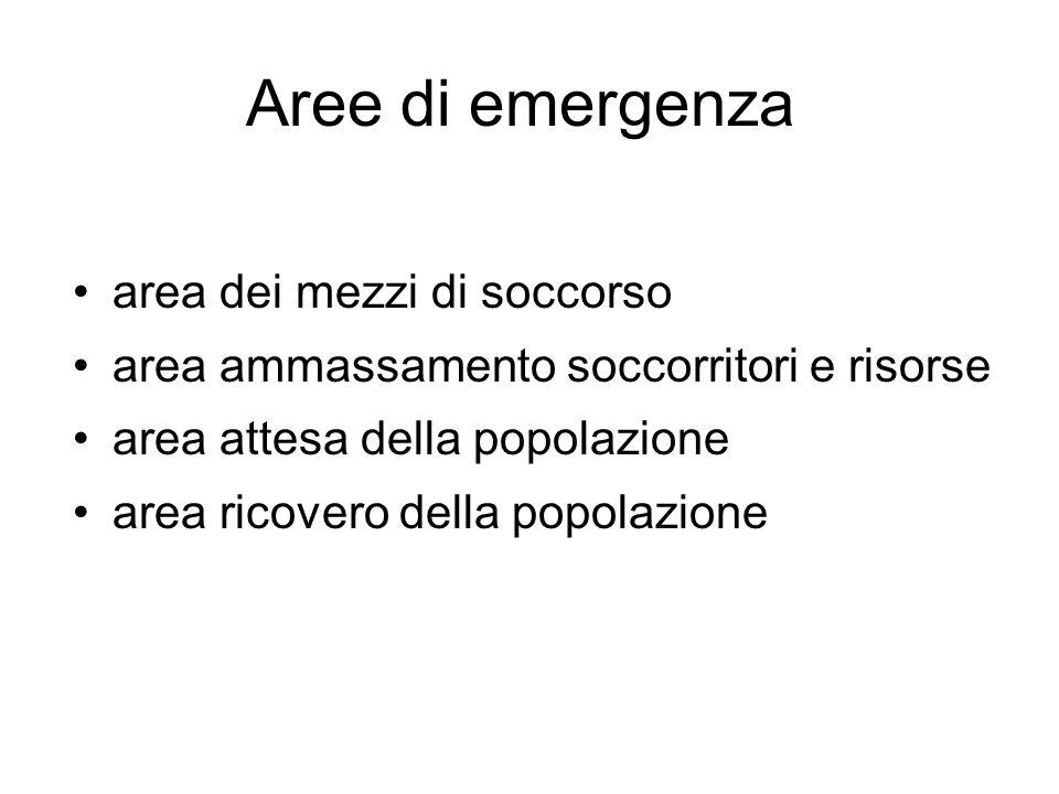 Aree di emergenza area dei mezzi di soccorso