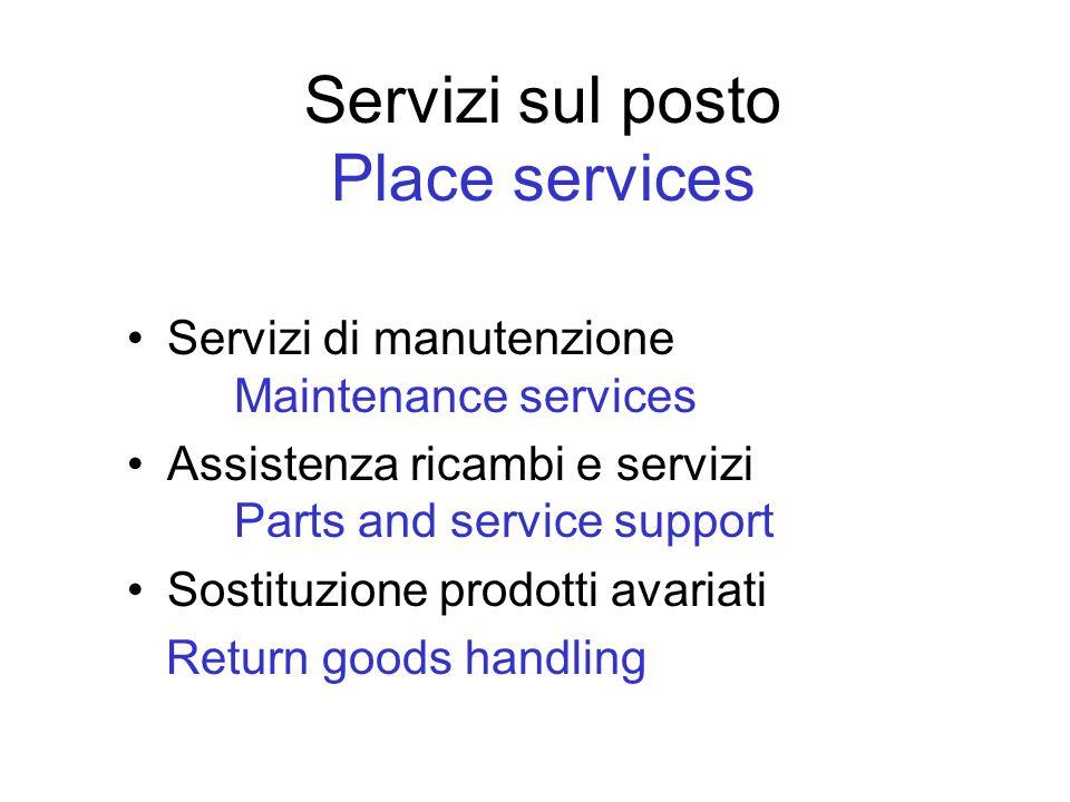 Servizi sul posto Place services