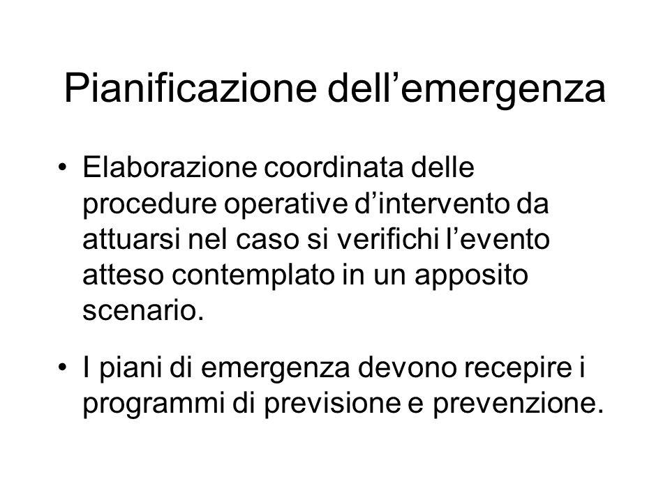 Pianificazione dell'emergenza