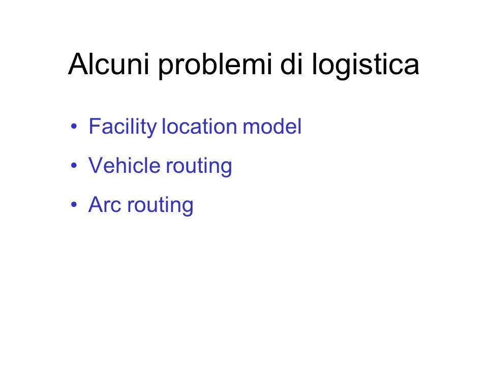 Alcuni problemi di logistica