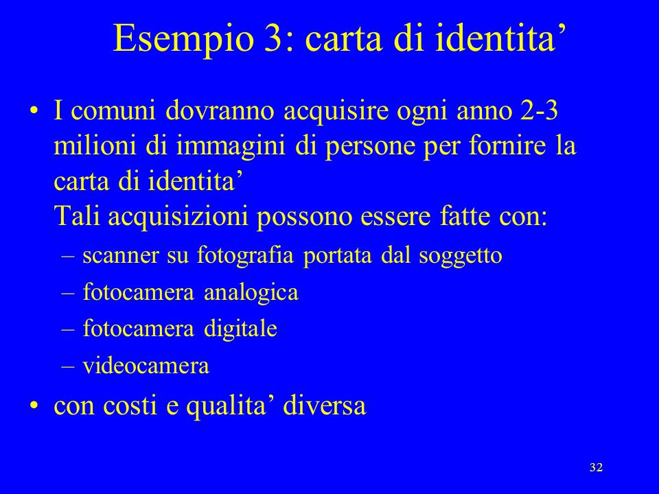 Esempio 3: carta di identita'