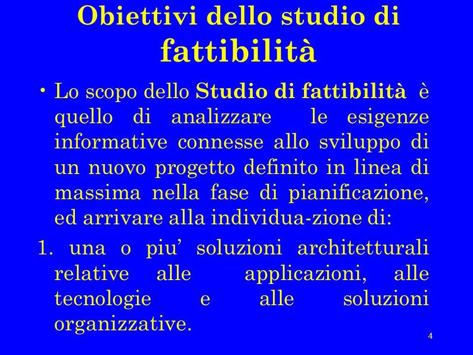Obiettivi dello studio di fattibilità