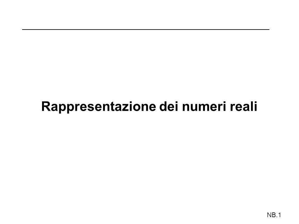 Rappresentazione dei numeri reali