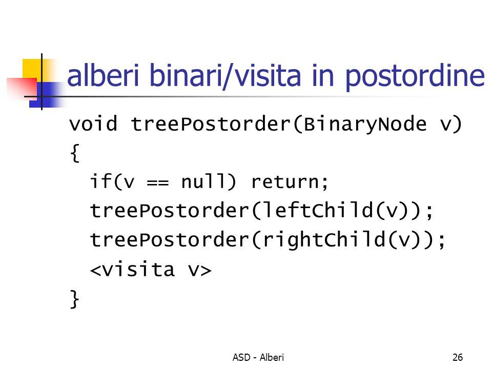 alberi binari/visita in postordine