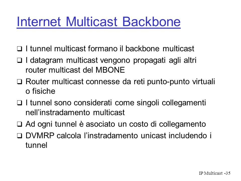 Internet Multicast Backbone