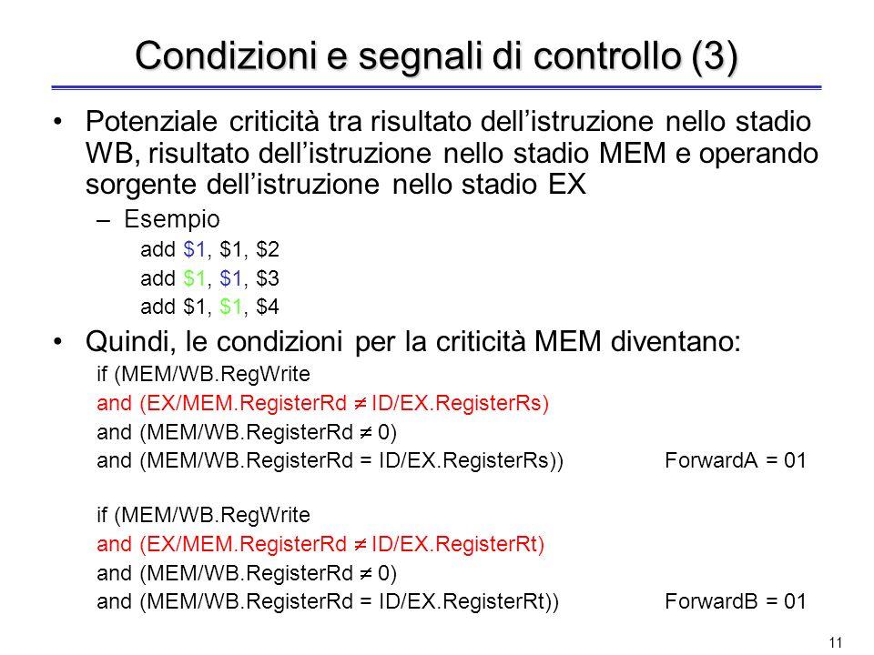 Condizioni e segnali di controllo (3)