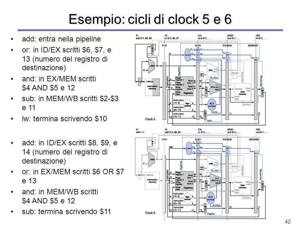 Esempio: cicli di clock 5 e 6