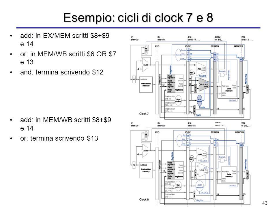 Esempio: cicli di clock 7 e 8