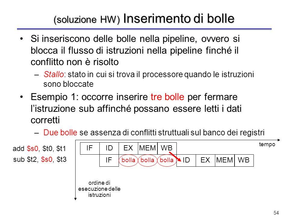 (soluzione HW) Inserimento di bolle