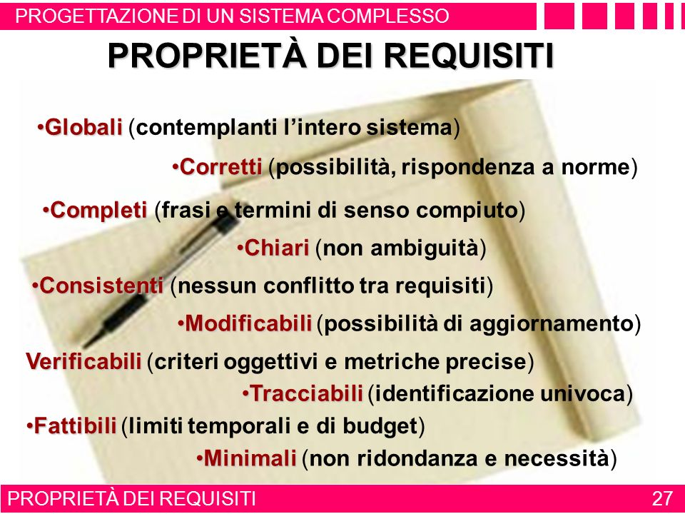PROPRIETÀ DEI REQUISITI