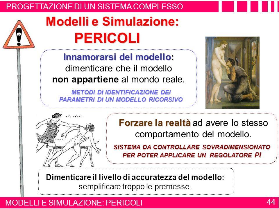 PERICOLI Modelli e Simulazione: effetto Pigmalione