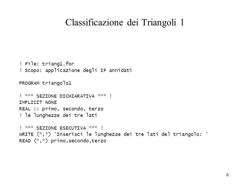 Classificazione dei Triangoli 1