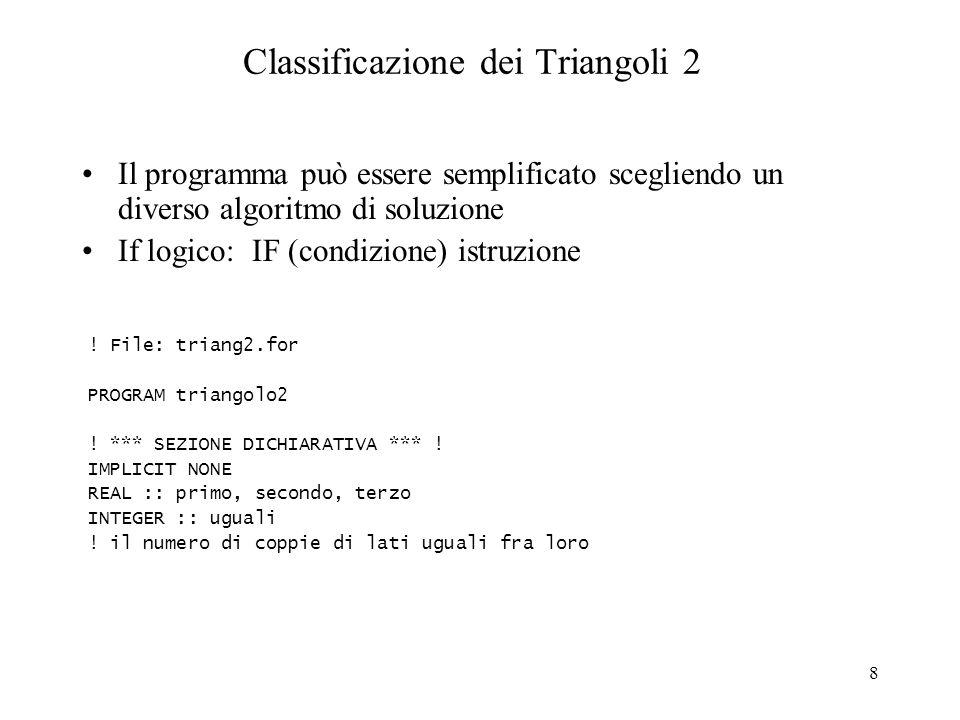 Classificazione dei Triangoli 2