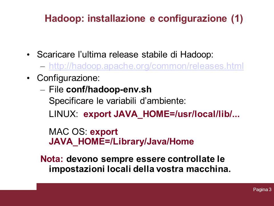 Hadoop: installazione e configurazione (1)