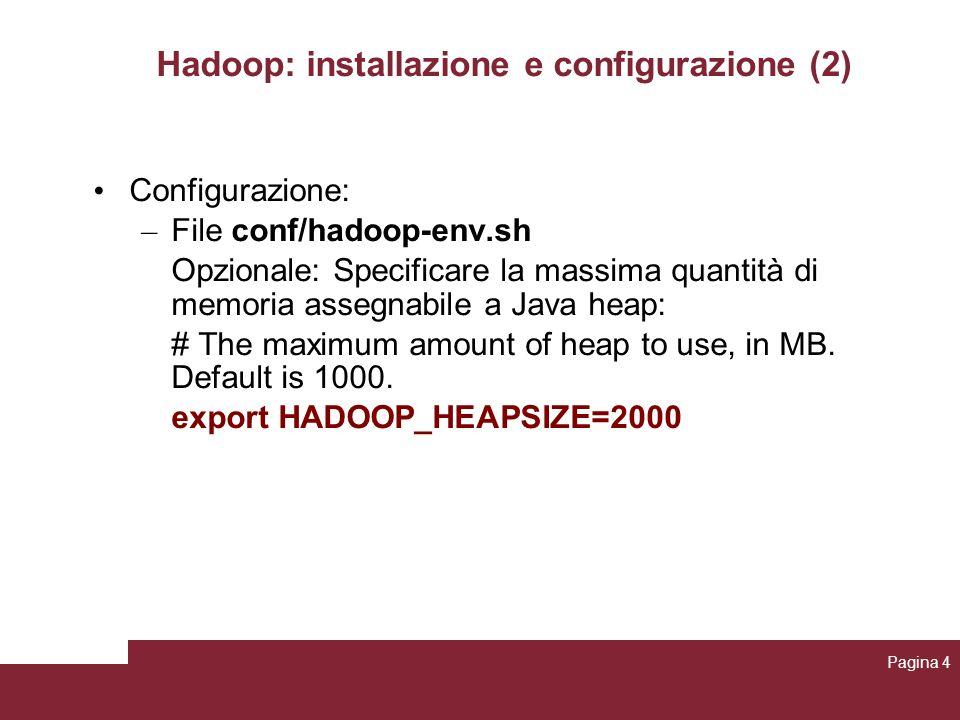Hadoop: installazione e configurazione (2)