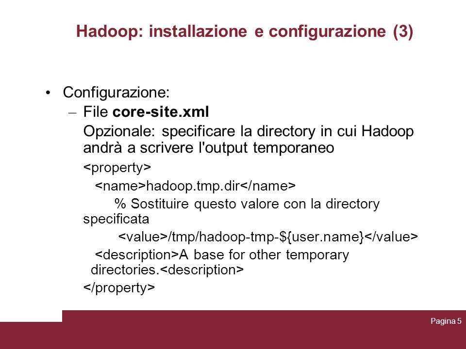 Hadoop: installazione e configurazione (3)