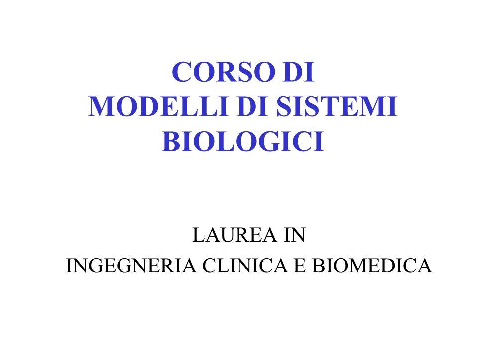 CORSO DI MODELLI DI SISTEMI BIOLOGICI