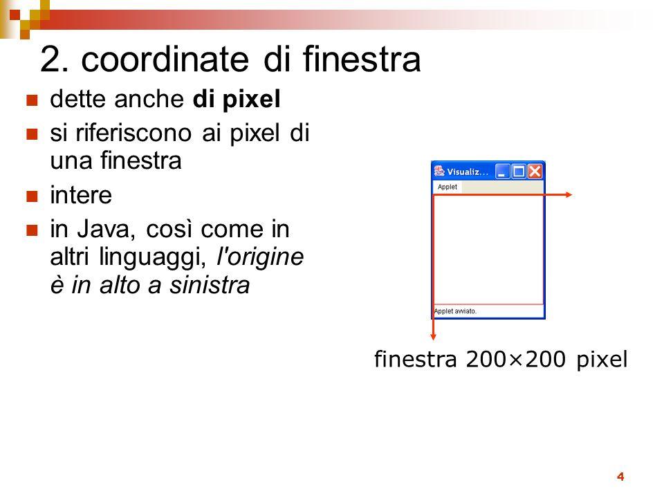 2. coordinate di finestra