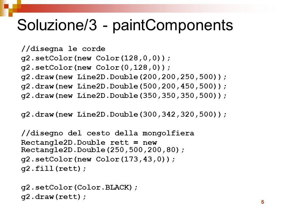 Soluzione/3 - paintComponents