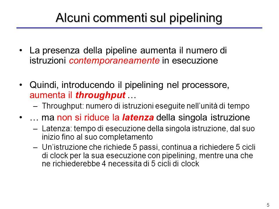 Alcuni commenti sul pipelining