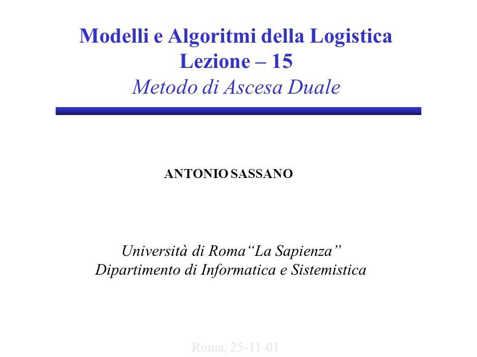 Modelli e Algoritmi della Logistica