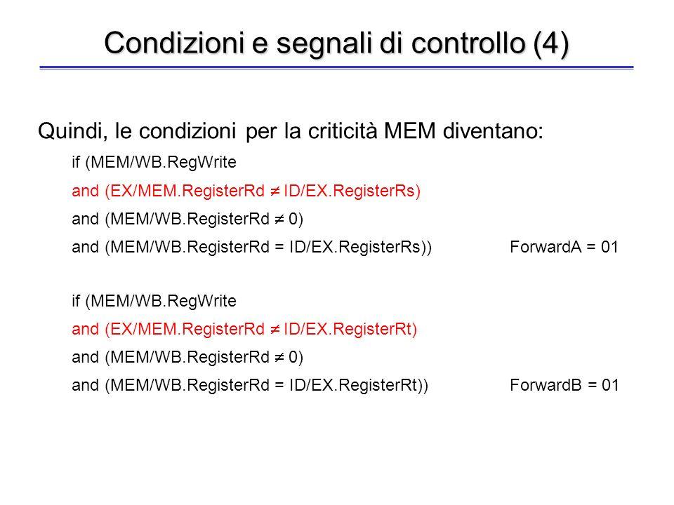 Condizioni e segnali di controllo (4)