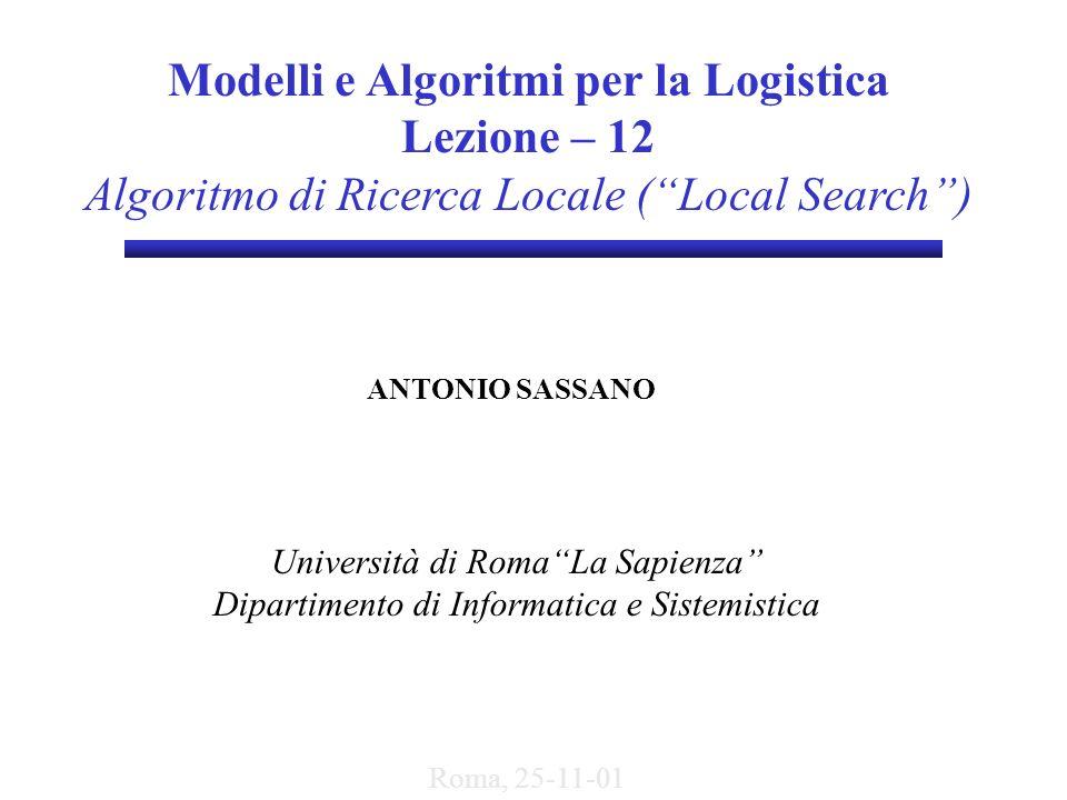 Modelli e Algoritmi per la Logistica