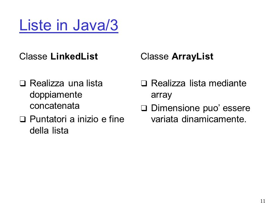 Liste in Java/3 Classe LinkedList
