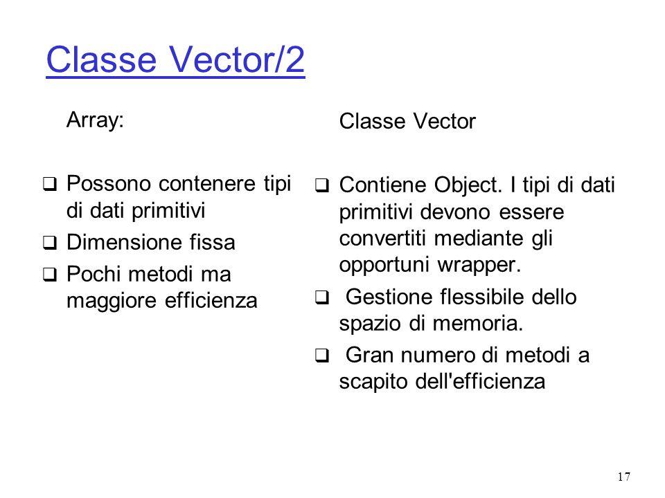 Classe Vector/2 Array: Classe Vector