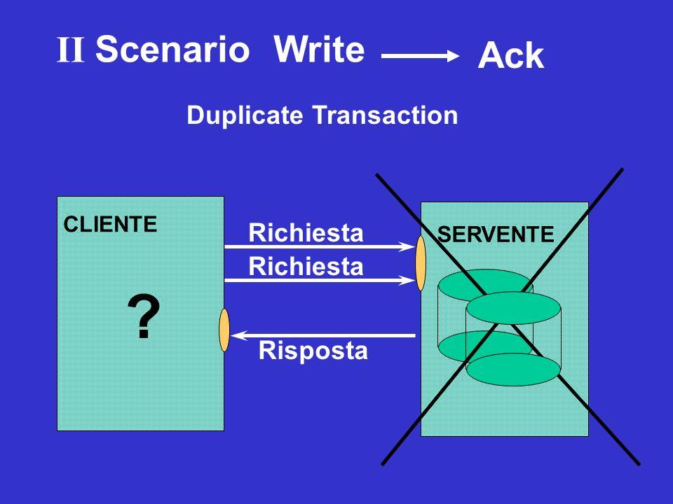 II Scenario Write Ack Duplicate Transaction Richiesta Richiesta