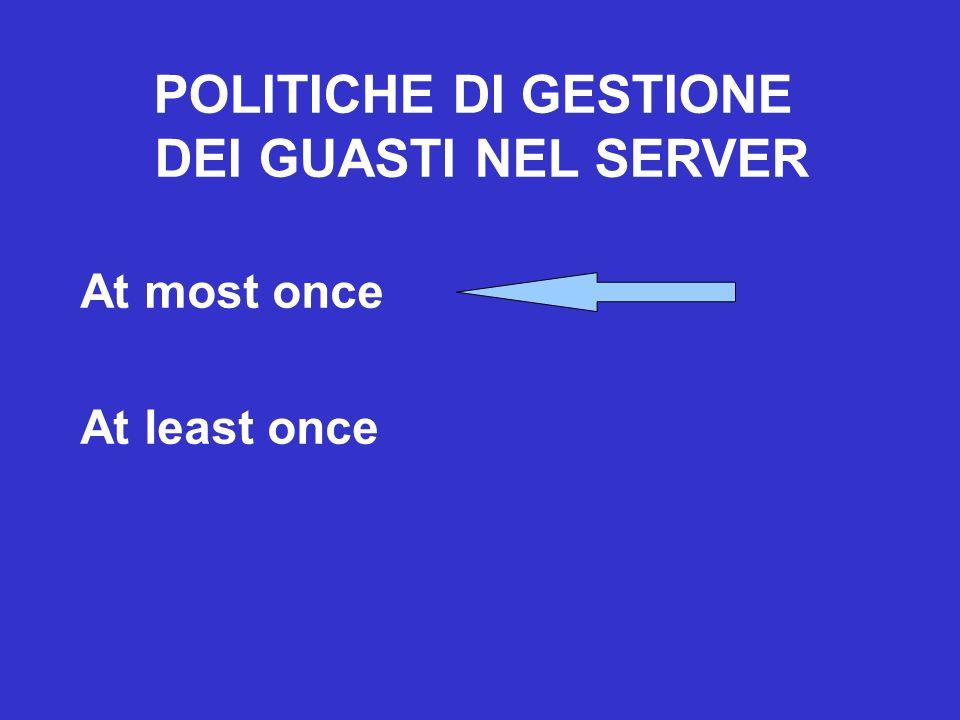 POLITICHE DI GESTIONE DEI GUASTI NEL SERVER